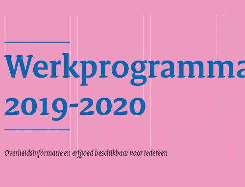 Werkprogramma Inspectie Overheidsinformatie en Erfgoed 2019-2020